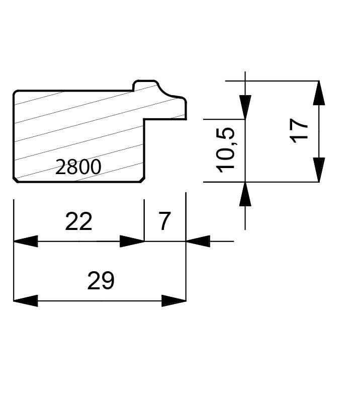 2800 Flat Gesso Finish Liner