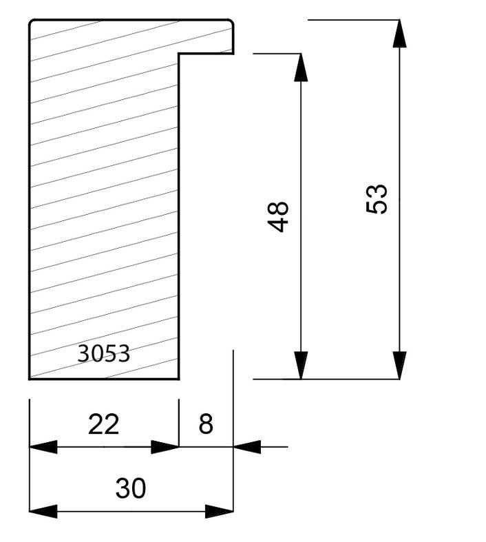 3053 Deep Box Moulding
