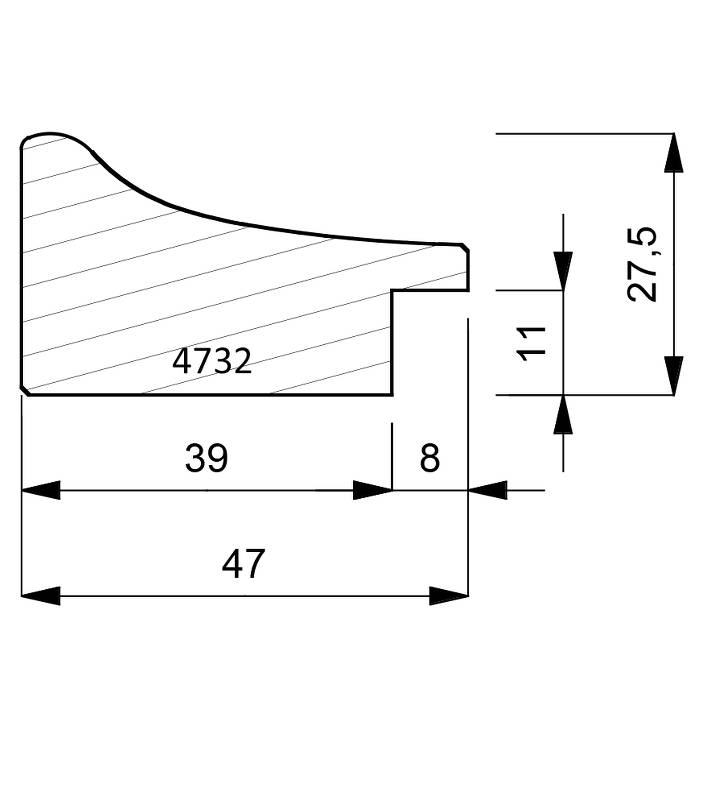 4732 Scoop Moulding