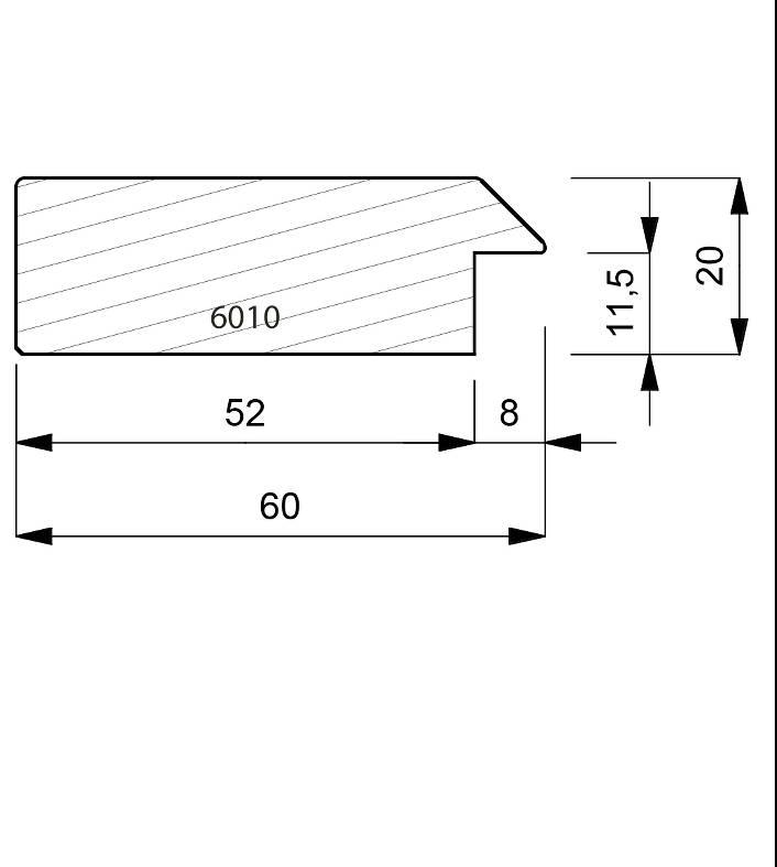 6010 Flat Case Moulding