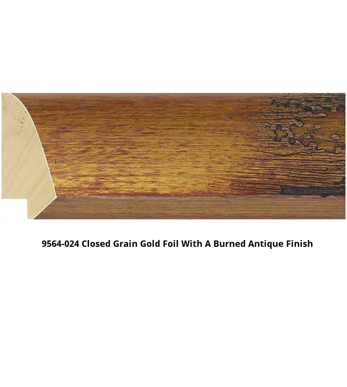 9564 Burned Antique Finish Moulding