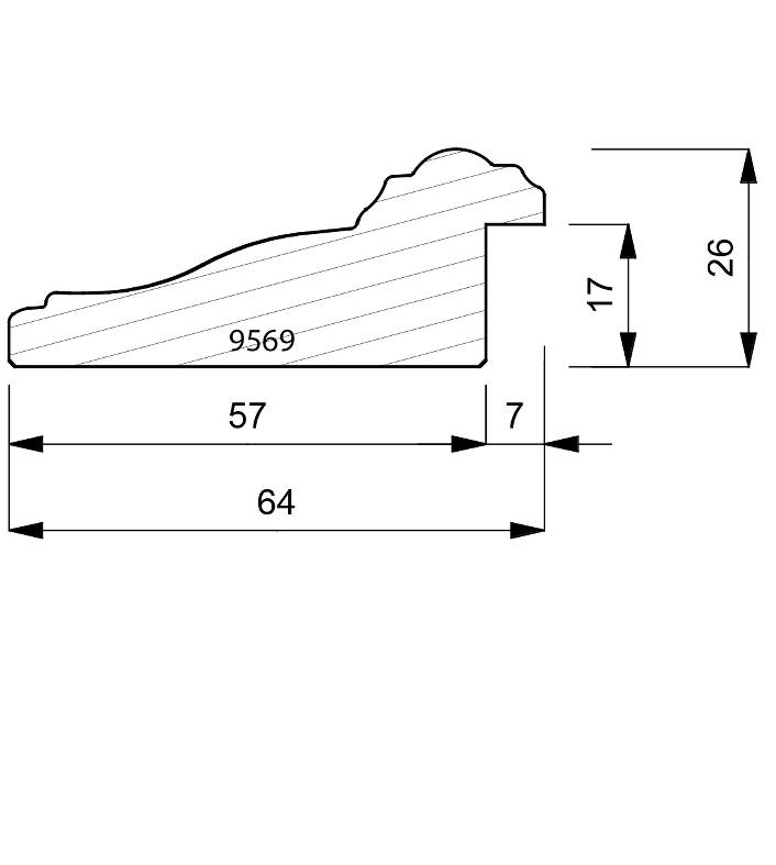 9569 Reverse Moulding
