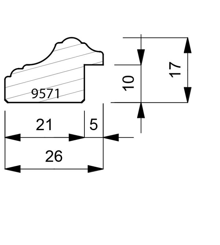 9571 Reverse Moulding