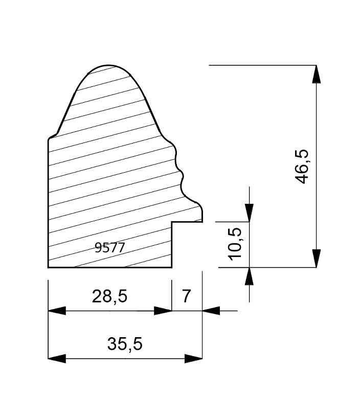 9577 Spanish Cap Moulding
