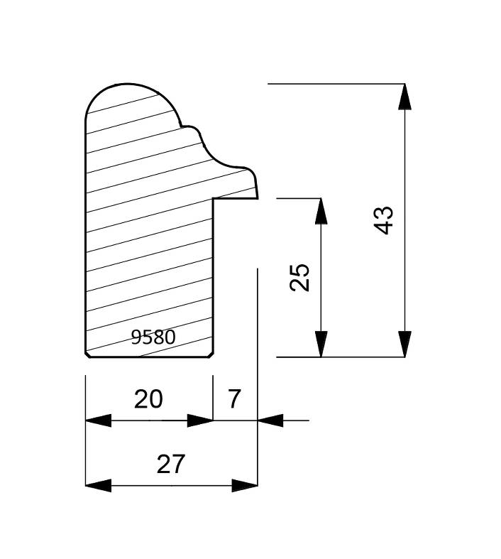 9580 Traditional Cap Moulding