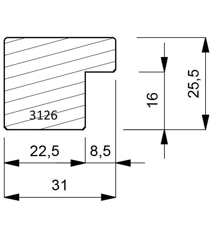 3126 Cube Moulding