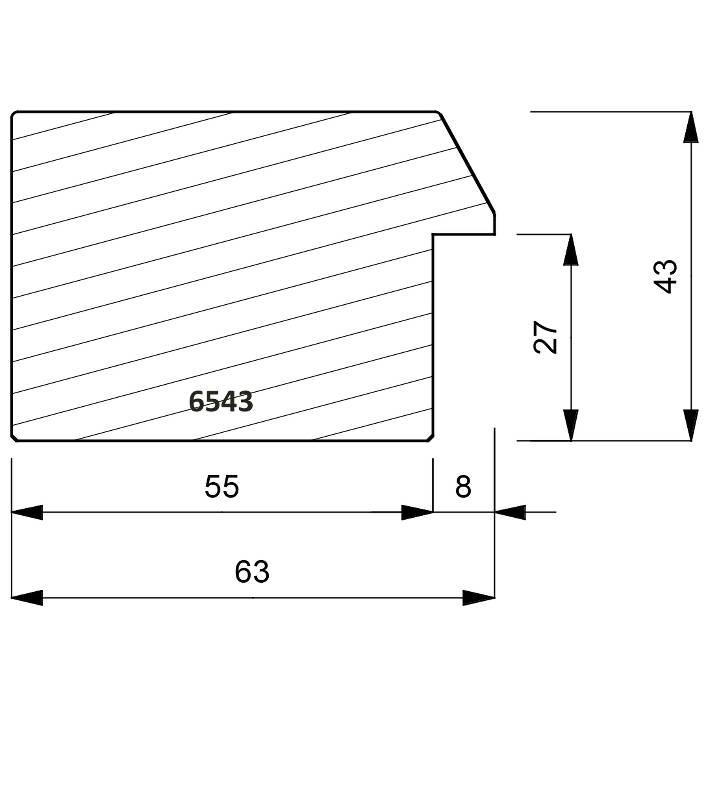 6543 Front Bevel Edge Moulding