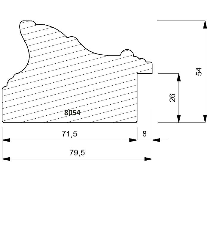 8054 Traditional Shaped Moulding